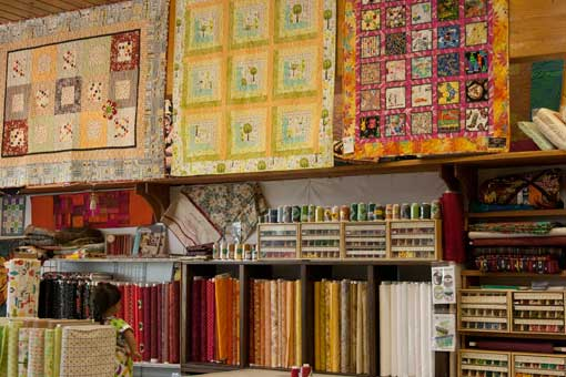 Fabric Selection at Dunn Quilting Studio